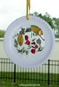 Create a simple nature suncatcher craft with kids and you can enjoy nature indoors year round!