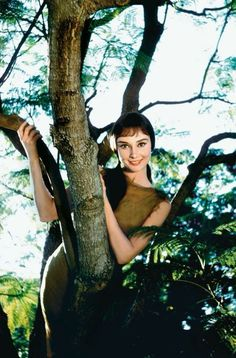 "Audrey Hepburn for ""Green Mansions"""