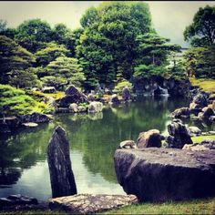 Garden in Nijo castle in Kyoto