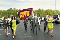 Someone get me a CMU flag for my wedding! This shot is awesome - copyright Dan Stewart Photography