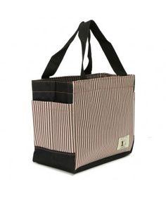 Striped Square Picnic Bag