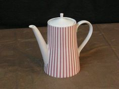 Melitta-Zuerich-5-70-rotbraune-Streifen-Kaffeekanne-60er-70er-Jahre