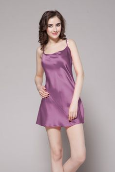 449035ec488 Top quality violet color silk slip are ready online for you