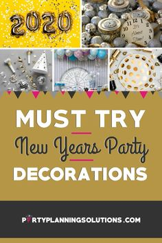 Whether you're hosting at home, a rental hall, restaurant, or anywhere else, New Years Eve Party décor is the ultimate way to create a cool vibe that guests get in the mood for the festivities. We've got the scoop on all the best New Years party decoration ideas that you'll need to deck out your celebration in style. #newyearseveparty #newyearsparty #newyearsevepartyideas #partydecorations #partydecor