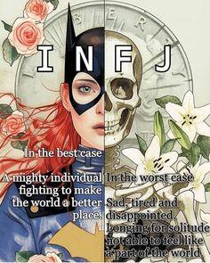 More than appropriate because Batgirl has always been my favorite super heroine. Infj Mbti, Intj And Infj, Infj Type, Enfj, Rarest Personality Type, Infj Personality, Personality Profile, Myers Briggs Infj, Infj Problems