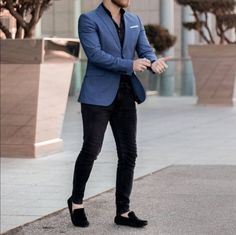 Black and Blue Business Suits Terno Masculino Men Suits for Wedding Prom Party Oversize Attire Men Wear Costume Homme Man Outfit Mens Casual Suits, Casual Wear For Men, Stylish Mens Outfits, Mens Suits, Men Wear, Mens Smart Formal Wear, Trendy Suits For Men, Best Suits For Men, Blazers For Men