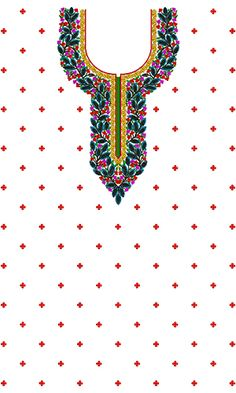 9222 Dress Embroidery Design