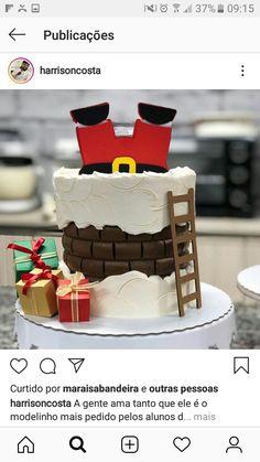 Christmas Cupcake Cake, Christmas Cake Designs, Christmas Cake Topper, Christmas Tree Cake, Christmas Cake Decorations, Christmas Snacks, Holiday Cakes, Christmas Cooking, Christmas Desserts