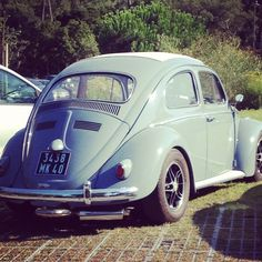 Baby blue - Beatle. Looks like my first car