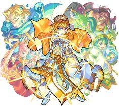 King of Knight of Rounds Arthur from Monster Strike Monster Strike, Fantasy Characters, Fictional Characters, Fantastic Art, Anime Comics, Knight, Princess Zelda, Kawaii, Image