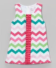 Look what I found on #zulily! Fuchsia & Green Zigzag Tunic - Toddler & Girls by Tutus by Tutu AND Lulu #zulilyfinds