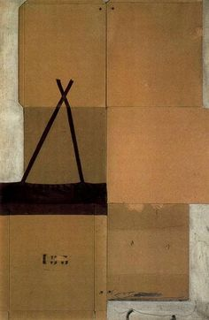 Antoni Tapies.  I've become a big fan of Tapies while pinning art. I just love his stuff.