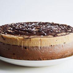Vegan Chocolate Salted Caramel Cheesecake