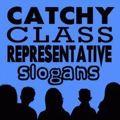 class representative slogans