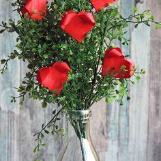 Woven Paper Hearts Bouquet