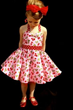 OMG, Pink Cherry Rockabilly Dress by DarlingInDisguise on Etsy, $45.00
