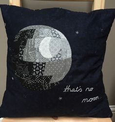 Death Star pillow, complete!