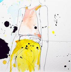 Figure  Fashion Illustration Art Print Woman Mix by Leigh Viner