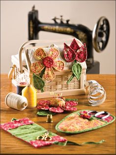 patchwork, accessori set, sew, craft, pincushion