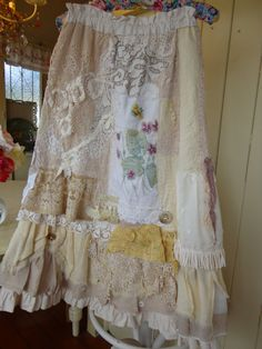 Hey, I found this really awesome Etsy listing at http://www.etsy.com/listing/168795208/upcycled-romantic-rag-skirt