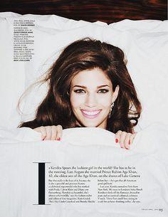 Editorial : Kendra Spears in Tatler UK April 2014
