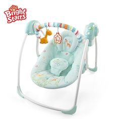 swing chair baby best aluminum folding 24 imposing images swings kids bright starts blue dream of placating the rocking