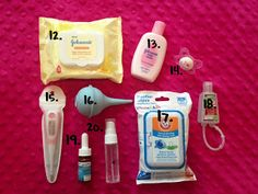 What to pack in a diaper bag for your newborn.