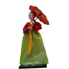 Koreans Statue Art Doll Hanbok Court dress Home artistic Decor Xmas Gift