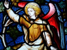 AN ANGEL.......BY JOHN HARDMAN.......IN ST MARTIN CHURCH IN BOWNES - ON - WINDERMERE........ENGLAND.........PHOTO BY GLASS ANGEL....................SOURCE STAINEDGLASSFOREVER.TUMBLR.COM....