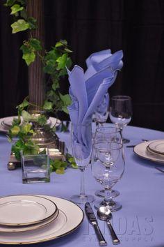 Ideas for wedding blue lavender table settings Periwinkle Wedding, Periwinkle Flowers, Periwinkle Blue, Wedding Colors, Wedding Flowers, Wedding Lavender, Wedding Blue, Purple, Pink