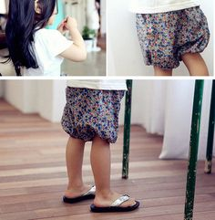 Floral Print Bloomer Shorts for girls kids fashion at colormewhimsy 1