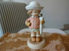 "Vintage Lucie Attwell ""Waiting For The Sunshine"" Figurine 