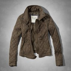 Womens Elsie Diamond Quilted Jacket | Womens Outerwear | Abercrombie.com #AbercrombieFitch #WestCountyCenter