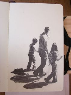 Moleskine #028 graphite pencil drawing: