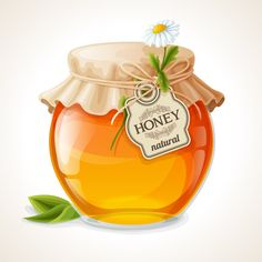 Buy Honey Jar Glass by macrovector on GraphicRiver. Natural sweet golden organic honey in glass jar with tag and paper cover vector illustration. Decoupage Vintage, Honey Label, Food Clipart, Jar Design, Paper Cover, Copics, Food Illustrations, Recipe Cards, Glass Jars