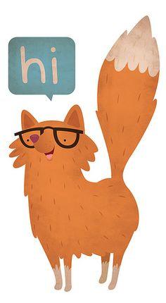 Hi, I'm a fox. by jillianevelyn, via Flickr