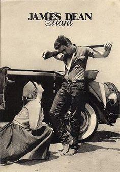 Elizabeth Taylor and James Dean -- Giant