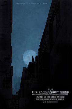 The Dark Knight Rises - 12x18 - Movie Poster - batman, dark knight, film, move poster, comic book, superhero. $18.00, via Etsy.