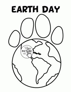 paw earth earth day coloring page for kids coloring pages printables free wuppsy