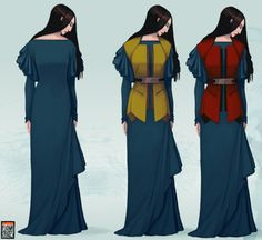 Lirael in her Clayr Robe, and her Third and Second Assistant Librarian waistcoats, from the novel Lirael, by Garth Nix