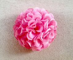 New Small Marigold Artifiicial Flower Hair Clip/Pin Brooch (Pink) * You can find out more details at the link of the image.