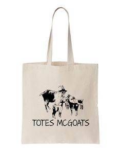 Totes Mcgoats Canvas Tote Bag. Funny Bag. Goats. by SubatomicTees
