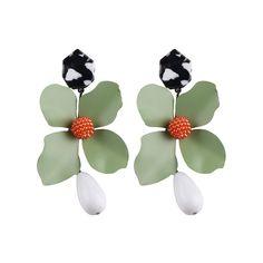 a88b5f5870ca 36% СКИДКА|Dvacaman Green Flower себе Длинные Висячие серьги для Для женщин  Мода бренд Pendientes серьги большие серьги ZA ювелирные изделия AB50  купить на ...