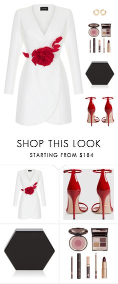 """Untitled #5348"" by mdmsb on Polyvore featuring Rasario, Gucci, Charlotte Tilbury and Melissa Kaye"