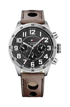 3280636fd08 Relógio Tommy Hilfiger Trent - 1791049 Couro Marrom