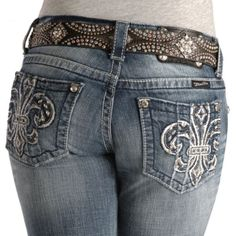 Miss Me Jeans - Fleur-de-Lis Fashion Boot Cut Jeans WHAT CAN I SAY?  I LOVE JEANS!