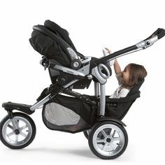 Peg Perego 2010 GT3 for Two All Terrain Double Stroller in Java