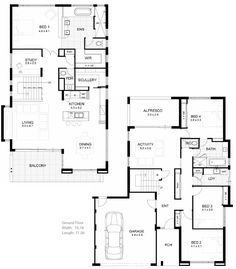 Modern Home Architecture Blueprints small modern house plans flat roof 2 floor - home design