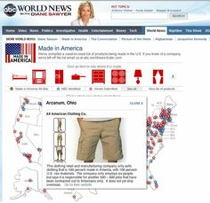 All American Clothing Co. Featured on ABC World News with Diane Sawyer