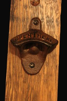 Oak Whiskey Barrel Stave Wall-Mounted Magnetic Bottle Opener